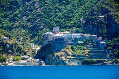 Dionissiou monastery, Mount Athos Stock Photos