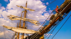 The Masts of Sailing Ship. Stock Footage