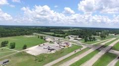 Rural Highway Descend Stock Footage