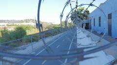 Los Angeles River biking trail urban tour Stock Footage
