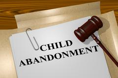 Child Abandonment concept Stock Illustration