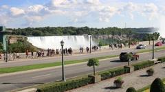 Niagara Falls Tourist Season Stock Footage
