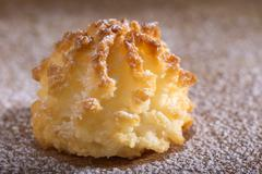One coconut macaroons christmas cookies with powdered sugar Stock Photos