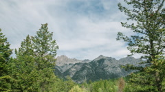 Mountains near Fairmont Hot Springs, BC Stock Footage