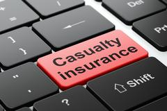 Insurance concept: Casualty Insurance on computer keyboard background Stock Illustration