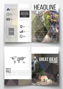Set of business templates for brochure, magazine, flyer, booklet, annual report Stock Illustration