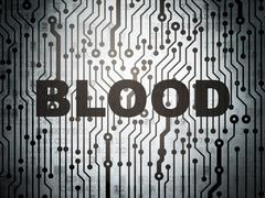 Healthcare concept: circuit board with Blood Stock Illustration