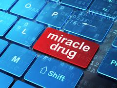 Health concept: Miracle Drug on computer keyboard background Stock Illustration