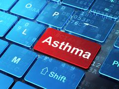 Health concept: Asthma on computer keyboard background Stock Illustration