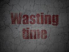 Time concept: Wasting Time on grunge wall background Stock Illustration