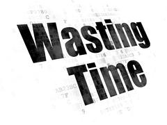 Time concept: Wasting Time on Digital background Stock Illustration