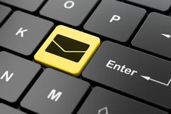 Business concept: Email on computer keyboard background Stock Illustration