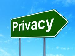 Protection concept: Privacy on road sign background Stock Illustration
