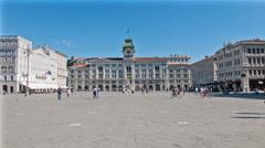 View of the Unità d'Italia Square Trieste Stock Footage