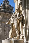 Detail of Monument to King Alfonso XII Stock Photos