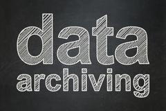 Data concept: Data Archiving on chalkboard background Stock Illustration