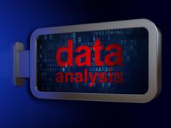 Information concept: Data Analysis on billboard background Stock Illustration