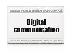 Information concept: newspaper headline Digital Communication Stock Illustration