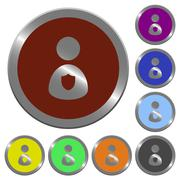 Color security guard buttons Stock Illustration