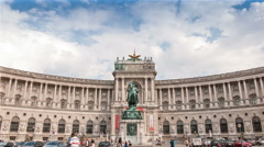 The Neue Burg building in Vienna Stock Footage