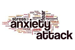Anxiety attack word cloud Stock Illustration