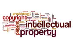 Intellectual property word cloud Stock Illustration