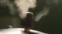 Pressure Cooker Valve Releasing Vapor Stock Footage