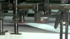 Running small sheet offset printing press Stock Footage