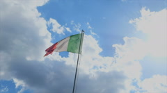 Italian flag in wind Stock Footage