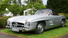 Mercedes-Benz 300SL Roadster classic sports car Stock Footage