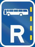 Road sign used in the African country of Botswana - Reserved lane for buses Stock Illustration