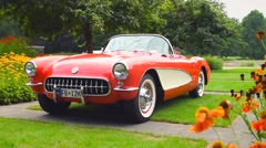 Chevrolet Corvette classic sports car Stock Footage