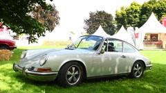 Porsche 911 classic sports car Stock Footage