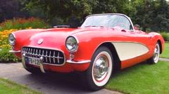 Chevrolet Corvette classic sports car Stock Footage