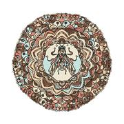 Round Ornament Pattern with a fly Stock Illustration