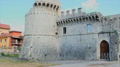 Avezzano castle in abruzzo Stock Footage