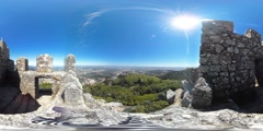 360 view from the Royal Tower Stock Footage