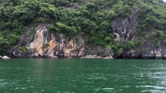 Ha long bay vietnam dragon cruise ship Stock Footage