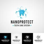 Dentist logo concept. Teethcare icon set. dentist clinic insignia, orthodontist Stock Illustration