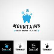 Dental logo template. Teethcare icon set. dentist clinic insignia, medical Stock Illustration