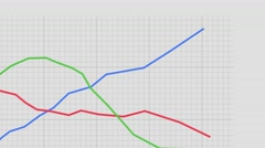 Graph line graph points business finance chart data figures statistics money 4k Stock Footage