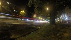 Night Lapse Jana Pawla Warszawa Stock Footage
