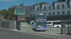 Transport Interchange, Galashiels, Scotland Stock Footage