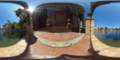 360 view from canal next to the Plaza de Espana Stock Footage