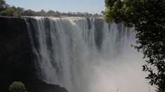 Victoria Falls, Waterfall Africa, Zimbabwe National Park, Zambesi Stock Footage