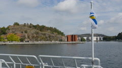 On board a ferry in Gothenburg Stock Footage