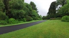 Asphalt road at connemara in ireland  12 Stock Footage