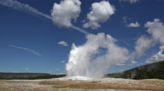 Old Faithful geyser Yellowstone time lapse Stock Footage