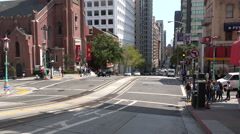 Time lapse crossing San Francisco Stock Footage