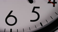 4K Close up of a clock face at 5pm Stock Footage
